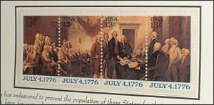 Declaration of Independence Stamps